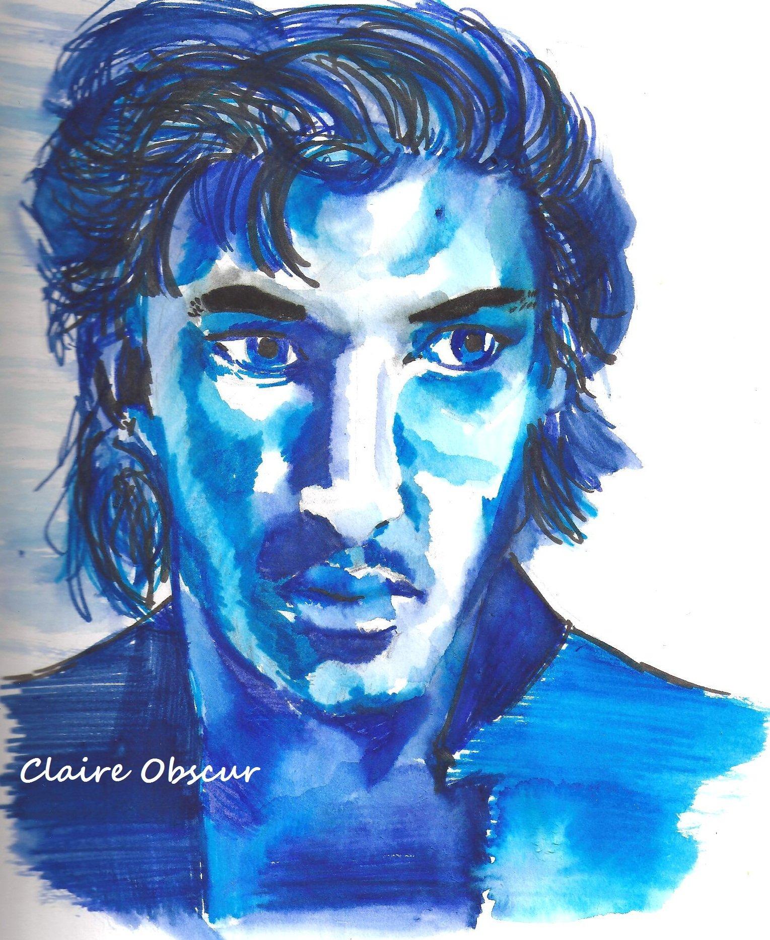 Bleu dans portrait Bleu-001