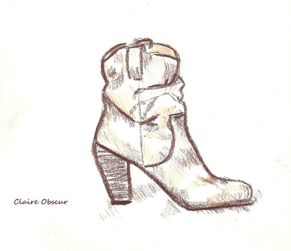 One of these days these boots are gonna walk all over you. dans Dessin